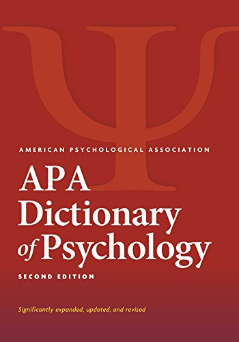 amazon apa dictionary of psychology second edition english