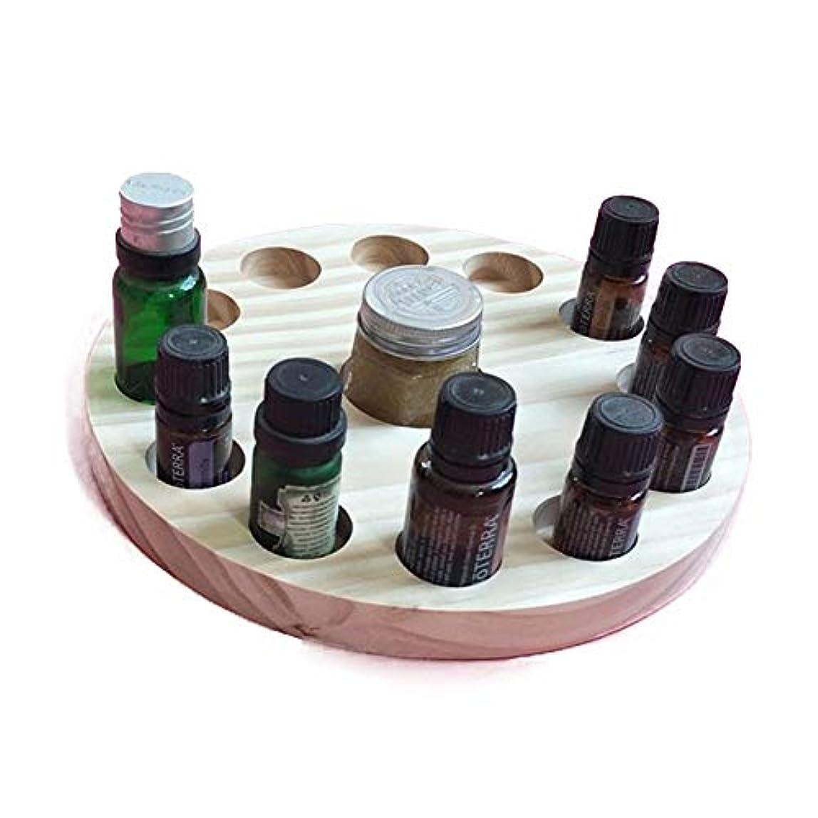 極地時代遅れビート13スロット木製エッセンシャルオイルストレージホルダーは12の10mlの油のボトルを保持します アロマセラピー製品 (色 : Natural, サイズ : Free size)