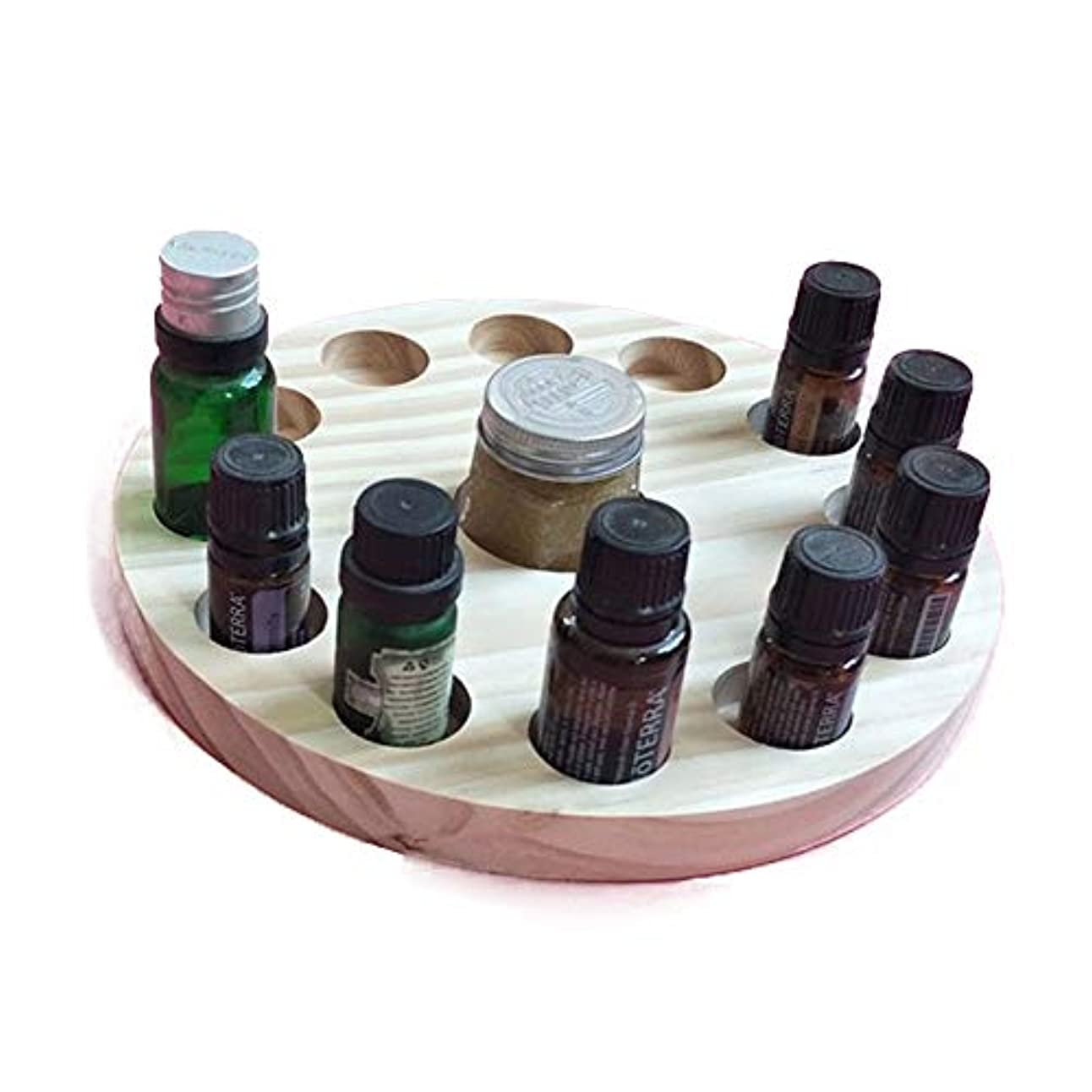 ペレット魚聴衆エッセンシャルオイルの保管 13スロット木製エッセンシャルオイルストレージホルダーは12の10mlの油のボトルを保持します (色 : Natural, サイズ : Free size)