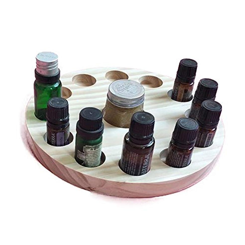 魔女おかしいジョブ精油ケース 木製の13スロットエッセンシャルオイルストレージホルダーは12本の10mlの油のボトルを保持します 携帯便利 (色 : Natural, サイズ : Free size)