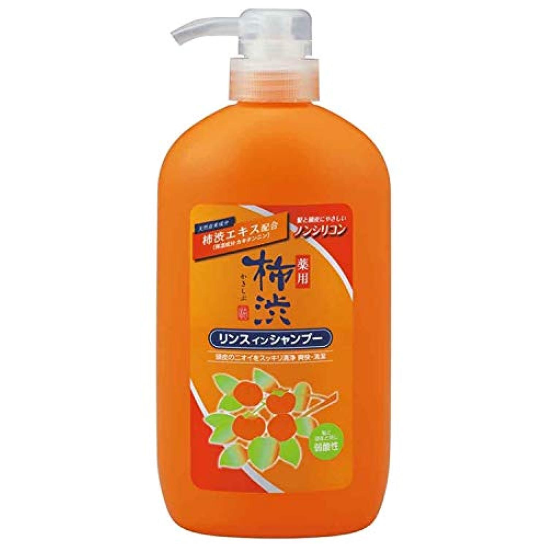 熊野油脂 薬用 柿渋リンスインシャンプー 本体 600ml