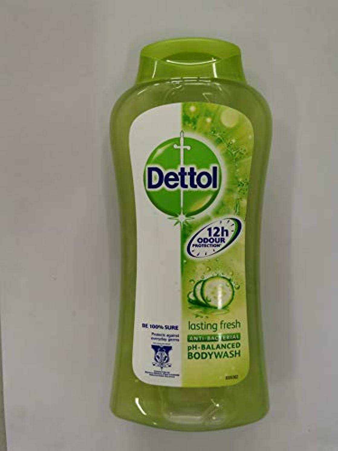 裏切る無力常習者Dettol pHバランス式を進めた250ml-フレッシュシャワージェルラスティング - 大規模な目に見えない細菌を防ぐ - 提供、新鮮で健康的なだけでシャワーを浴びて気持ちを継続しました