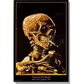 ゴッホ タバコをくわえた頭蓋骨 1885【ポスター+フレーム】約 91x61cm