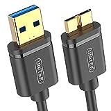 Unitek Y-C461GBK USB 3.0 Type-A (Male) to Micro-B (Male) Cable, 1 m Length, Black
