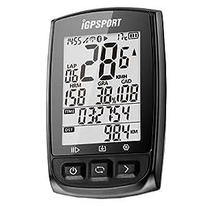 GPS サイコン サイクリングコンピュータ STRAVA 連携 センサー対応 メーカー保証 iGPSPORT iGS50E 日本語マニュアル (ブラック)