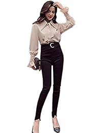 ulricar レディース スーツ セットアップ 二点セット 長袖 シャツ ハイウェストパンツ 春 かわいい おしゃれ ビジネス