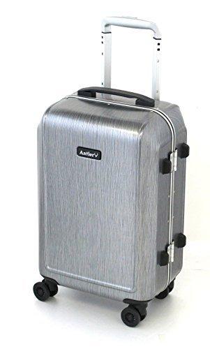 [アントラー] CARRINGTON スーツケース キャリントン 32L 軽量 小型 機内持ち込み 双輪キャスター 大径50�oオイル封入キャスター ヒノモトキャスター 機内持込可 保証付 32L 55cm 3.0kg ACAH-48 HSV ヘアラインシル