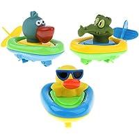B Blesiya 赤ちゃん 贈り物 お風呂おもちゃ ミニ バス プールおもちゃ 動物モデル 3点セット