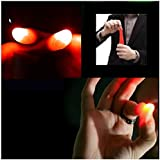 (Red)Simulation Light Up Thumb Tip Magic Trick Fingers by M-zone Co., LTD