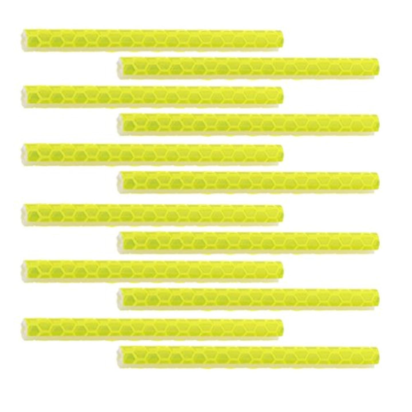 手当犬病ノーブランド品 ABSチューブ 自転車 スポーク用  反射スポーク 反射スティック スポークリフレクター   全6色選べる 12本 - イエロー