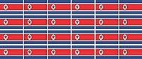 ミニステッカーセット - 滑らかなパック - 33x20mm - 自己粘着ラベル - Nordkorea - 車、オフィス、家庭や学校のための標準的なフラグ/バナー/ - 24 作品