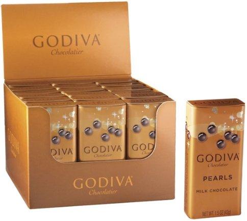 ゴディバ(GODIVA), ゴディバ パール, ミルク チョコレート 1.5 OZ (Pack Of 18) (海外直送品) [並行輸入品]