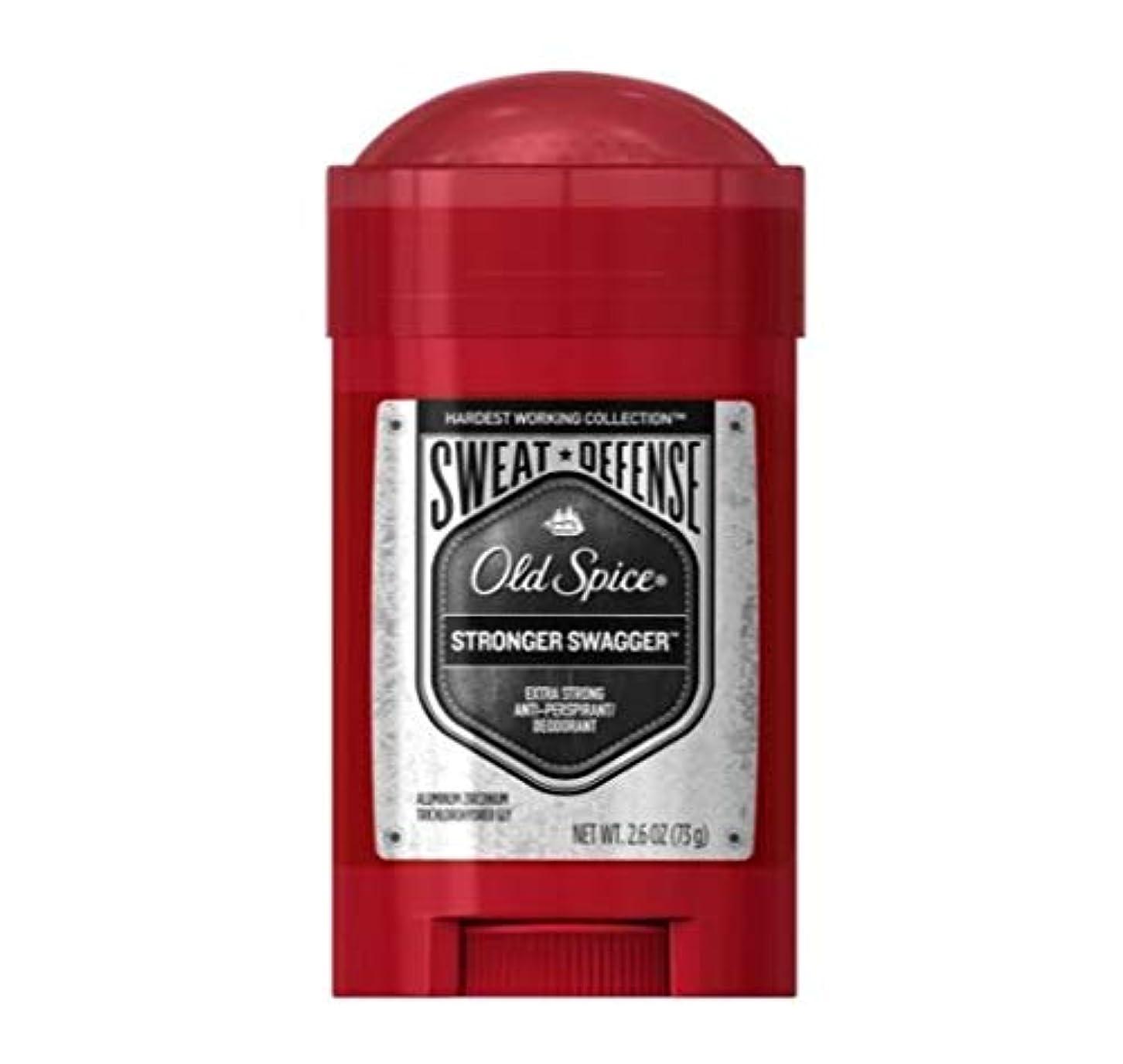 故意の万一に備えて避けるOld Spice Hardest Working Collection Sweat Defense Stronger Swagger Antiperspirant and Deodorant - 2.6oz オールドスパイス...