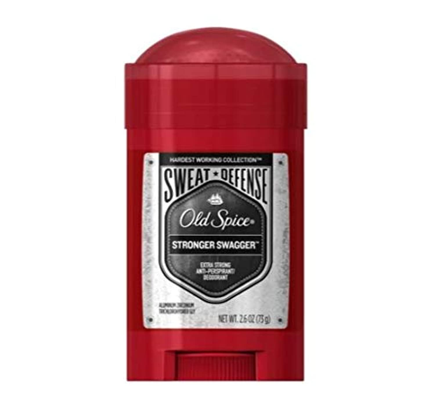 告発者お願いしますクッションOld Spice Hardest Working Collection Sweat Defense Stronger Swagger Antiperspirant and Deodorant - 2.6oz オールドスパイス...