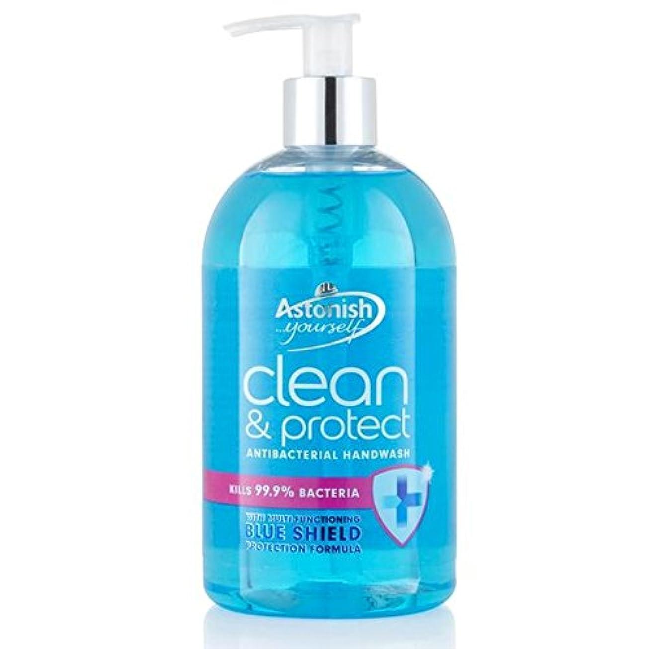 アッパー電極窓を洗うクリーン驚か&ハンドウォッシュ500ミリリットルを保護 x4 - Astonish Clean & Protect Hand Wash 500ml (Pack of 4) [並行輸入品]
