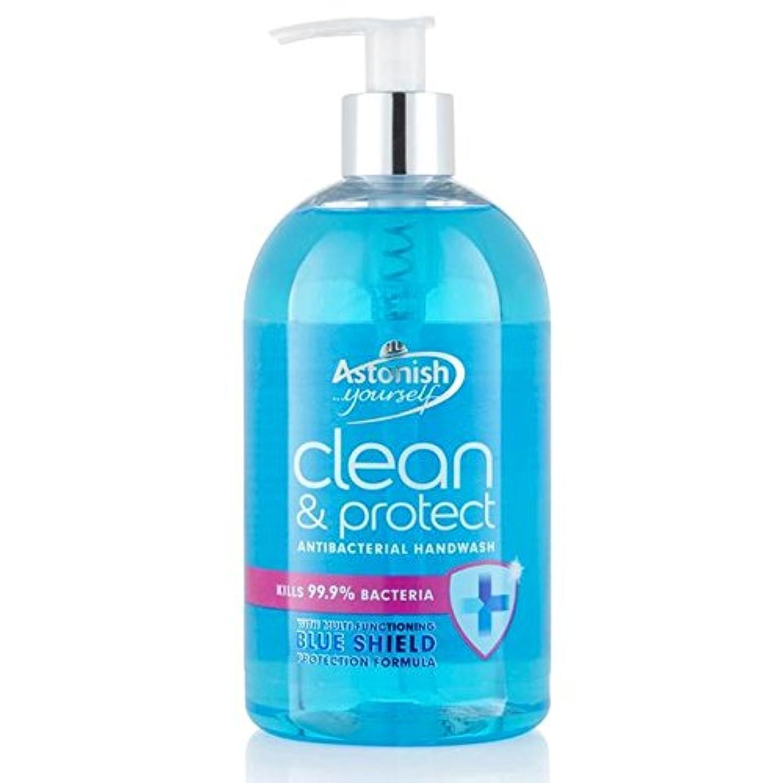 住所パブマイクロプロセッサAstonish Clean & Protect Hand Wash 500ml (Pack of 6) - クリーン驚か&ハンドウォッシュ500ミリリットルを保護 x6 [並行輸入品]