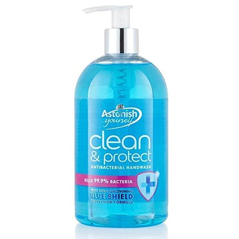 団結タフ急降下クリーン驚か&ハンドウォッシュ500ミリリットルを保護 x4 - Astonish Clean & Protect Hand Wash 500ml (Pack of 4) [並行輸入品]