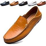 MCICI ローファー スリップオン ドライビングシューズ メンズ 本革 デッキシューズ 軽量 モカシン 靴 カジュアルシューズ 2種履き方 手作り 紳士靴 ビジネスシューズ ローカット職場用 スリッポン 大きなサイズ