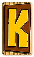 なまけ者雑貨屋 Tiki Letter K お部屋を飾る インテリア アート デザイン ボード さび風デザイン ブリキ看板