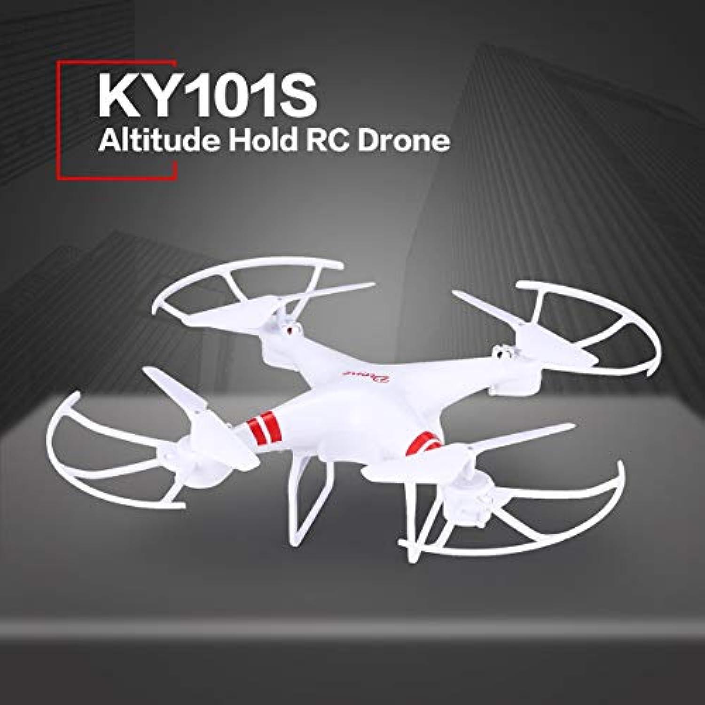 クワックKY101S高度保留ドローンヘッドレスモード3Dフリップワンキーリターン離陸/着陸ホバーH / LスピードスイッチRCクアドコプター20分(カラー:ホワイト)