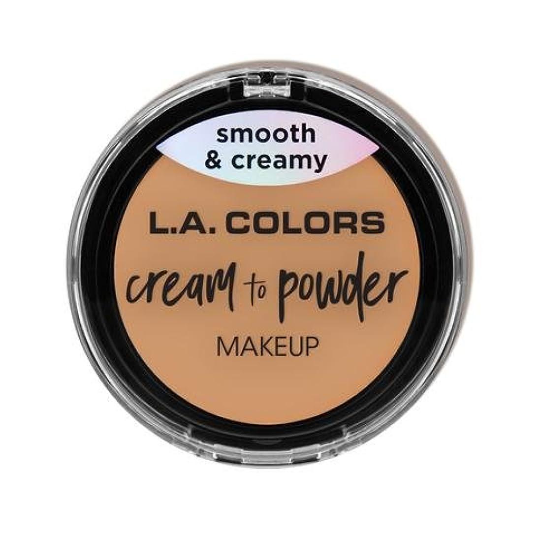解き明かす効率で出来ている(3 Pack) L.A. COLORS Cream To Powder Foundation - Honey Beige (並行輸入品)