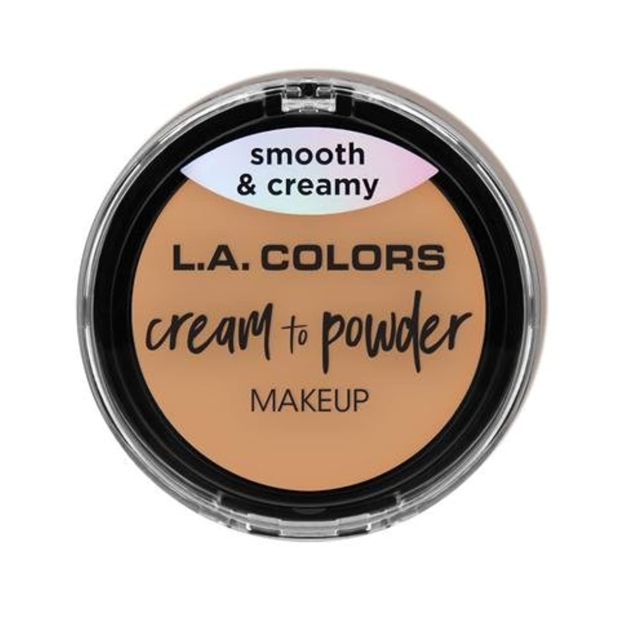 シネウィドット蓮(3 Pack) L.A. COLORS Cream To Powder Foundation - Honey Beige (並行輸入品)