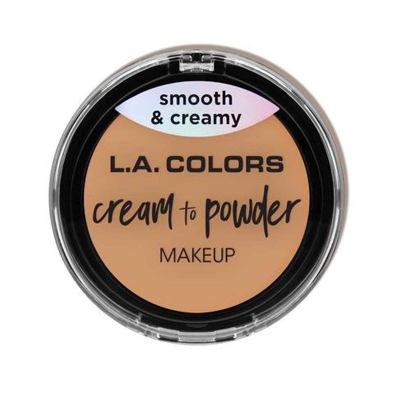 埋め込む悪因子論争の的(3 Pack) L.A. COLORS Cream To Powder Foundation - Honey Beige (並行輸入品)