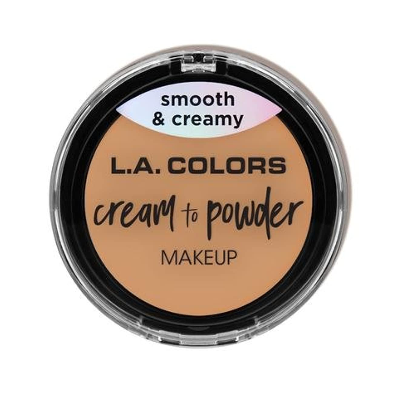 懲らしめ夕暮れ同化する(3 Pack) L.A. COLORS Cream To Powder Foundation - Honey Beige (並行輸入品)