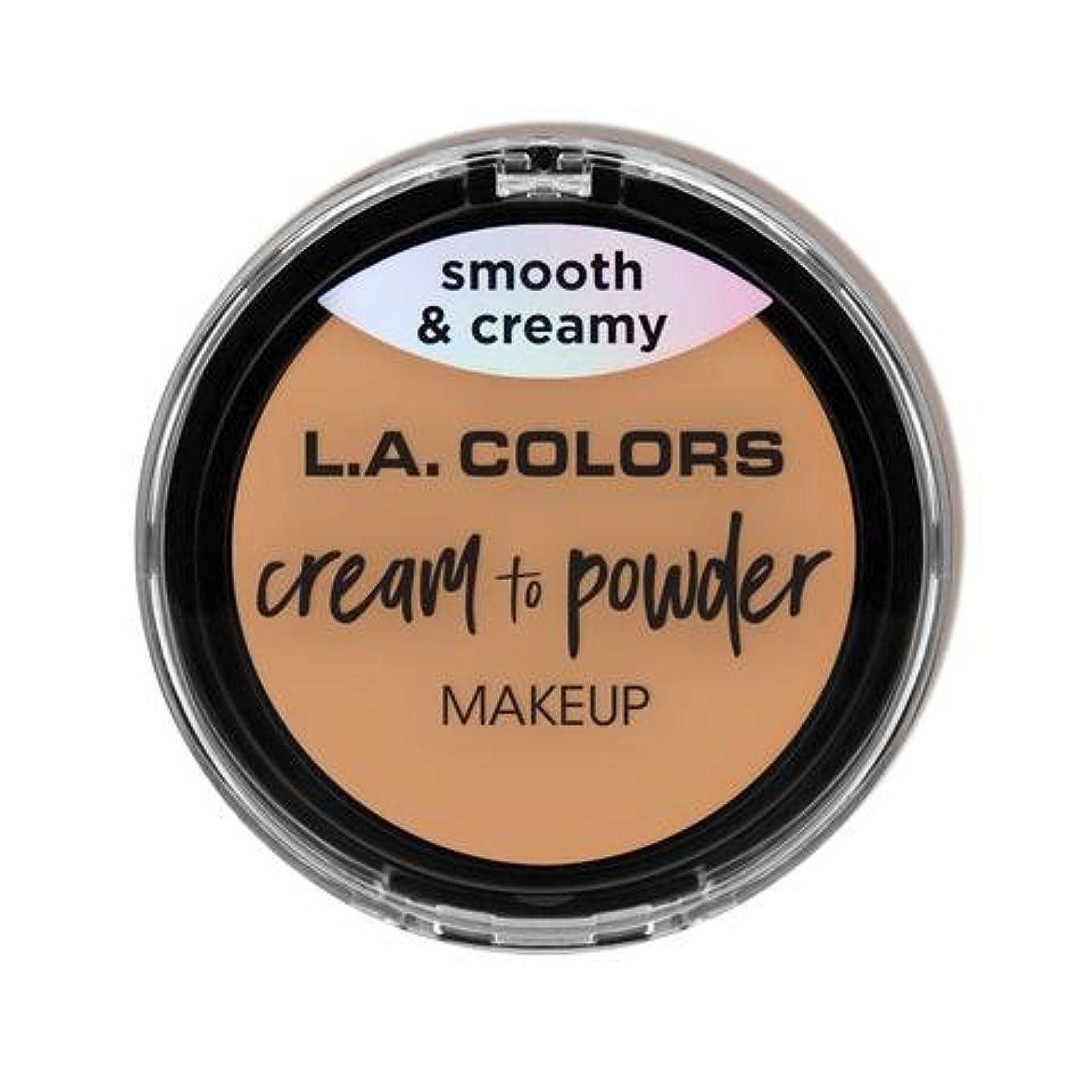 覚醒プラスチック逃げる(3 Pack) L.A. COLORS Cream To Powder Foundation - Honey Beige (並行輸入品)