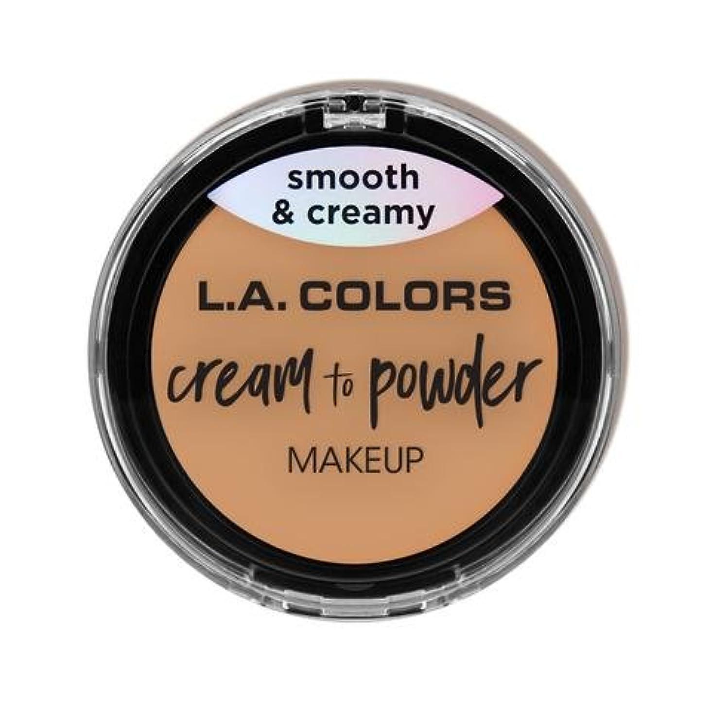 支店絶え間ない最後の(6 Pack) L.A. COLORS Cream To Powder Foundation - Honey Beige (並行輸入品)