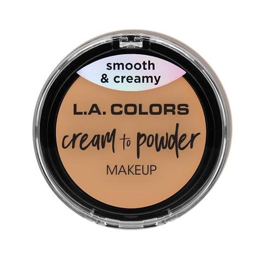 ほぼポルノ漏れ(6 Pack) L.A. COLORS Cream To Powder Foundation - Honey Beige (並行輸入品)