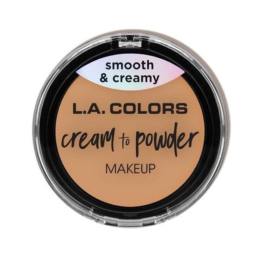 ホイットニー活性化鉛(6 Pack) L.A. COLORS Cream To Powder Foundation - Honey Beige (並行輸入品)