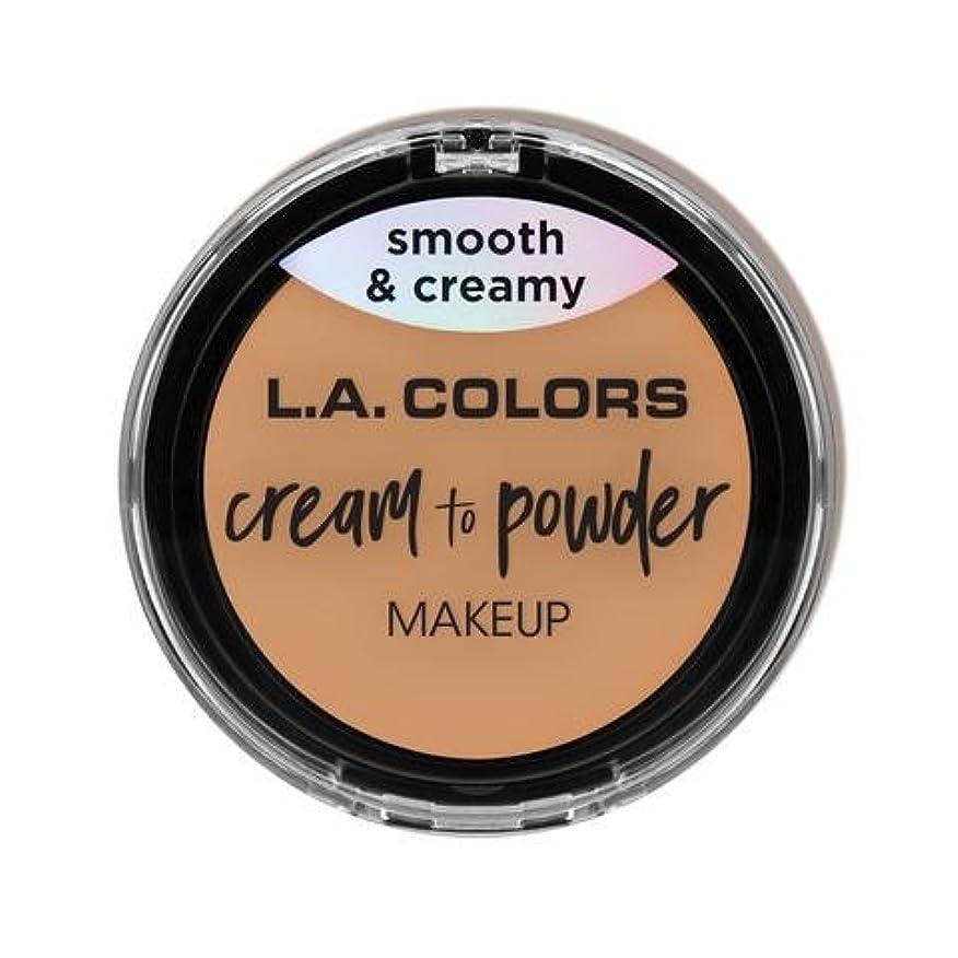 認知狐すみません(3 Pack) L.A. COLORS Cream To Powder Foundation - Honey Beige (並行輸入品)