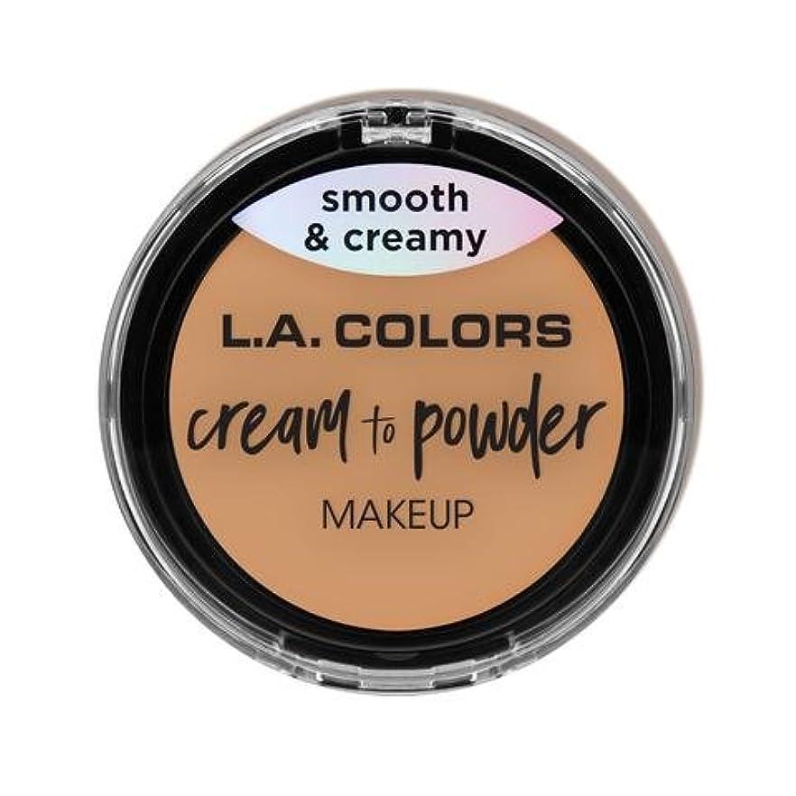 緯度とティームすなわち(6 Pack) L.A. COLORS Cream To Powder Foundation - Honey Beige (並行輸入品)
