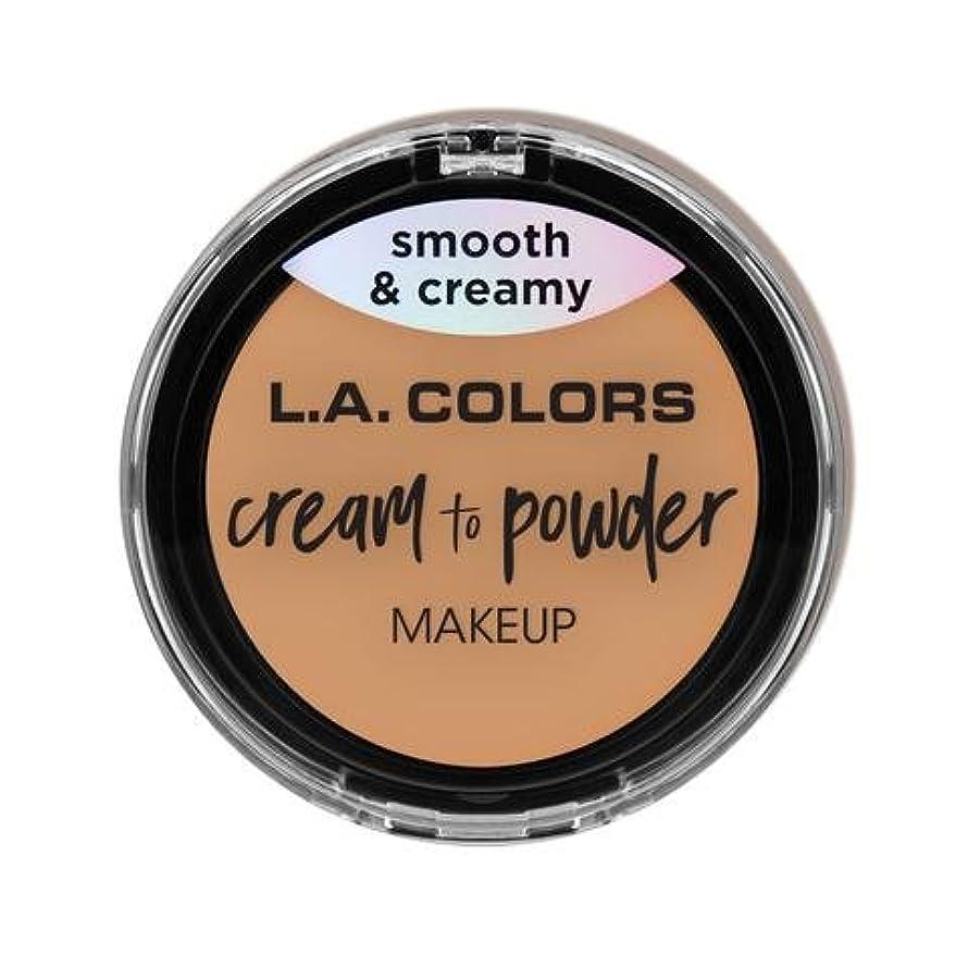 愛国的な認知タール(3 Pack) L.A. COLORS Cream To Powder Foundation - Honey Beige (並行輸入品)