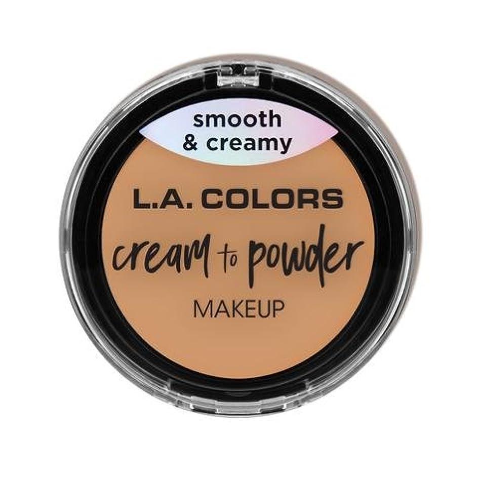 ペルメルパースブラックボロウバンケット(6 Pack) L.A. COLORS Cream To Powder Foundation - Honey Beige (並行輸入品)