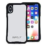 WAYLLY(ウェイリー) iPhone X ケース iPhone XS ケース アイフォンXケース アイフォンXSケース くっつくケース 着せ替え 耐衝撃 Qi対応 米軍MIL規格 [スモールロゴ ホワイト] MK