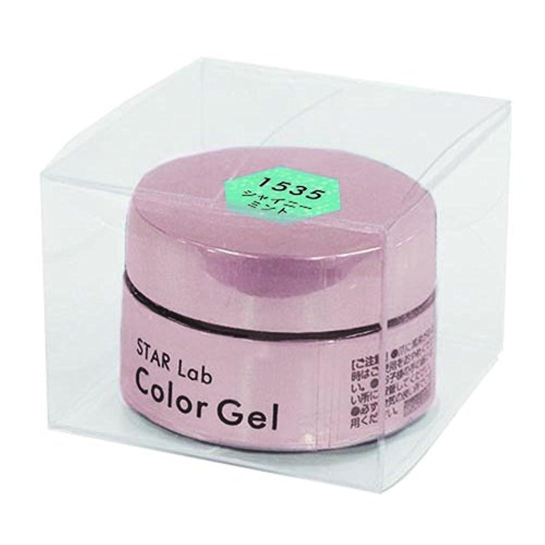 出血ビュッフェアーサースターラボ カラージェル SGE 1535 シャイニーミント (4g)