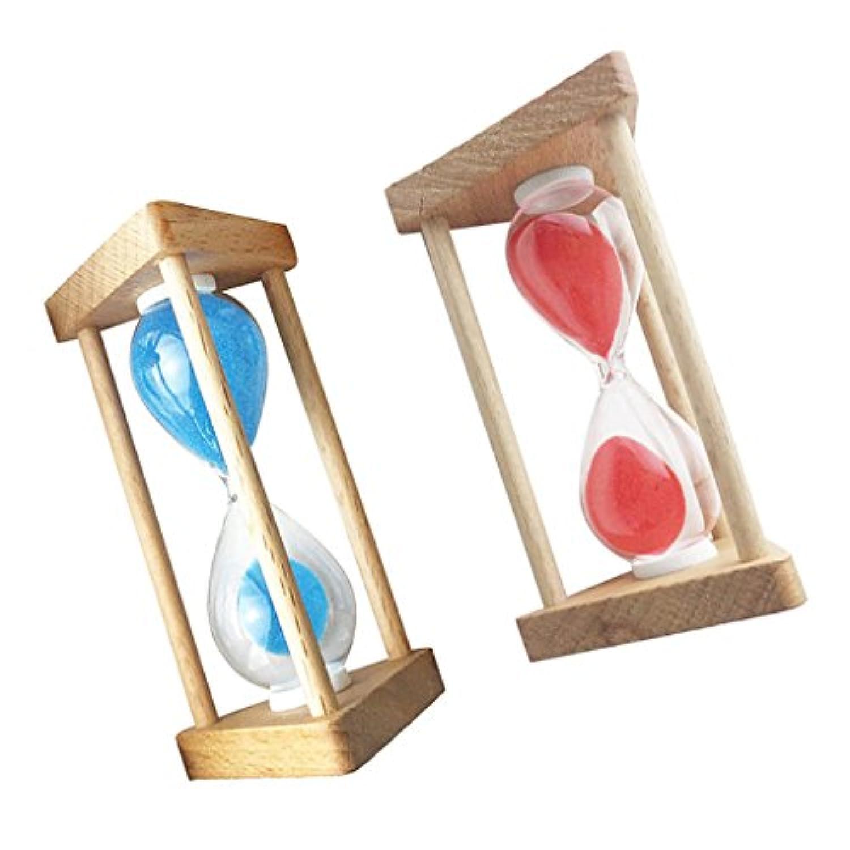 Dovewill 砂時計  サンドタイマー 装飾 タイミング用 贈り物 2個 赤と青色 全5種類 - 90秒