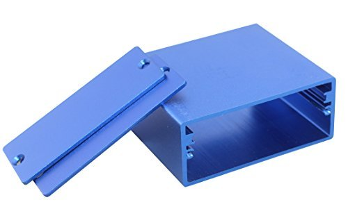 【Sサイズ】 DIY DACコンバーター、 ポータブルヘッドフォンアンプ に最適! アルミ製ケース ボックス 箱 電子工作 キット 汎用 サイズ:50*58*24mm 【自作用】ブルー