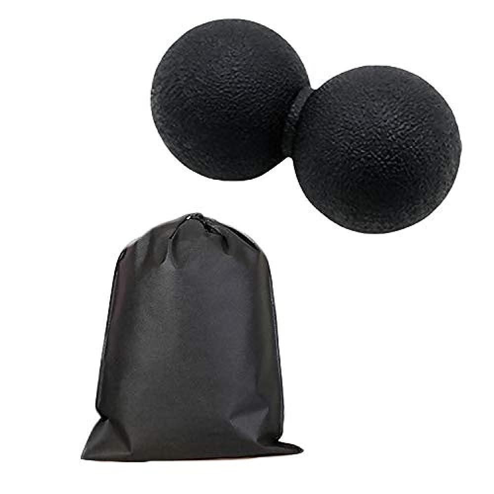 作り上げる厄介な解明するMigavan マッサージボールローラーバックマッサージボール収納袋が付いているピーナツマッサージのローラーボールのマッサージャー