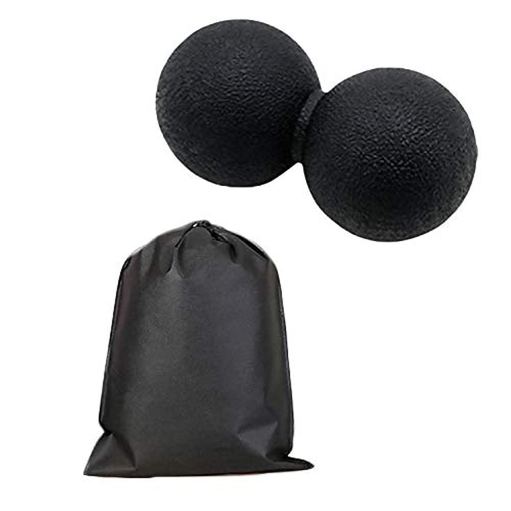 感情の雪湿地Migavan マッサージボールローラーバックマッサージボール収納袋が付いているピーナツマッサージのローラーボールのマッサージャー