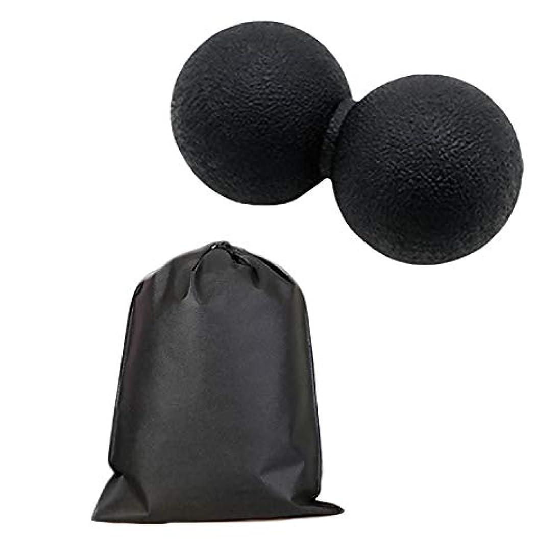 についてダンプ好意的Migavan マッサージボールローラーバックマッサージボール収納袋が付いているピーナツマッサージのローラーボールのマッサージャー