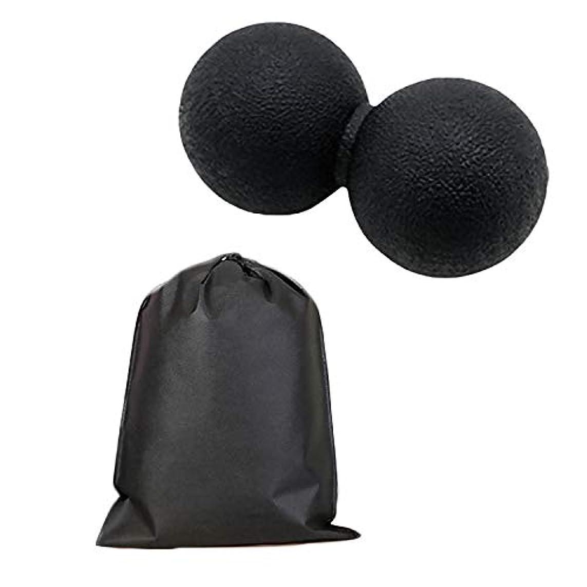 周囲息子教授Migavan マッサージボールローラーバックマッサージボール収納袋が付いているピーナツマッサージのローラーボールのマッサージャー