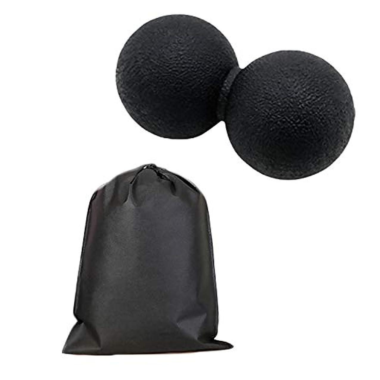 によって人類母音Migavan マッサージボールローラーバックマッサージボール収納袋が付いているピーナツマッサージのローラーボールのマッサージャー