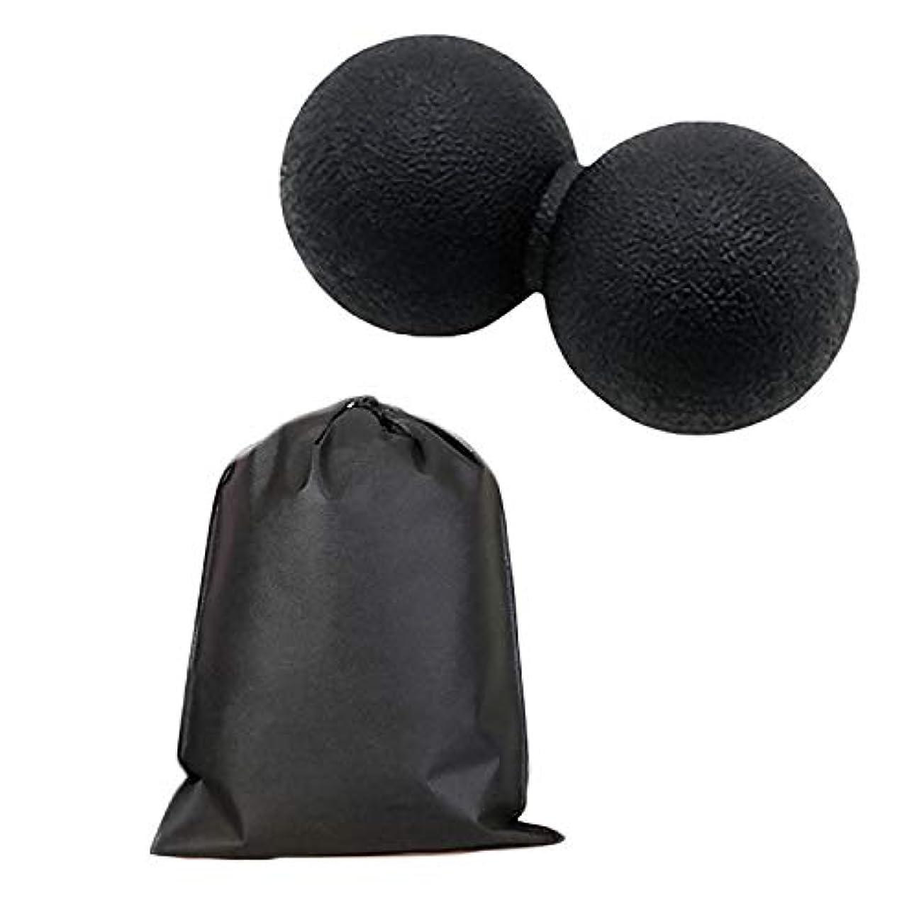 排除するホーン火山学Migavan マッサージボールローラーバックマッサージボール収納袋が付いているピーナツマッサージのローラーボールのマッサージャー