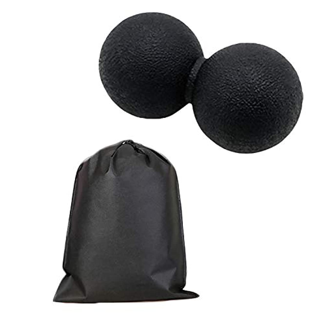 天気経過検閲Migavan マッサージボールローラーバックマッサージボール収納袋が付いているピーナツマッサージのローラーボールのマッサージャー