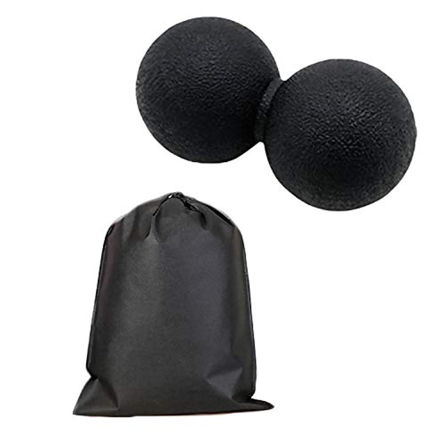 に変わる失われたに変わるMigavan マッサージボールローラーバックマッサージボール収納袋が付いているピーナツマッサージのローラーボールのマッサージャー
