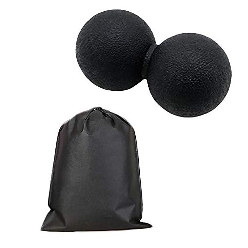 滑り台倫理項目Migavan マッサージボールローラーバックマッサージボール収納袋が付いているピーナツマッサージのローラーボールのマッサージャー