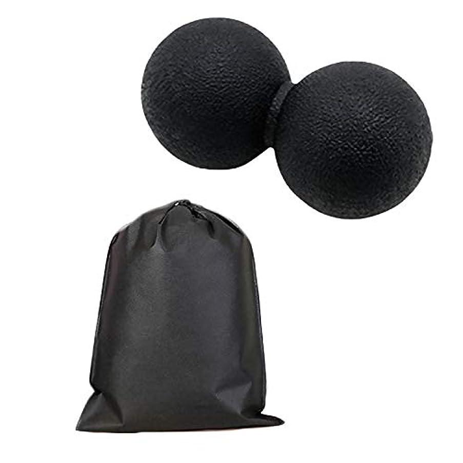 バーベキュー申し立てるアークMigavan マッサージボールローラーバックマッサージボール収納袋が付いているピーナツマッサージのローラーボールのマッサージャー